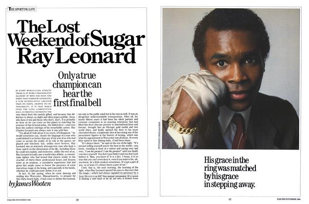 Article Preview: The Lost Weekend of Sugar Ray Leonard, November 1984 | Esquire