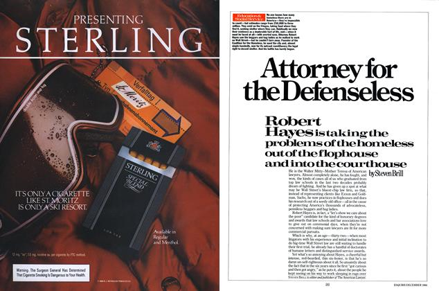 Article Preview: Attorney for the Defenseless, DECEMBER 1984 1984 | Esquire