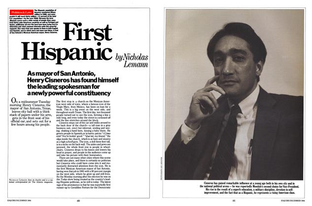Article Preview: First Hispanic, DECEMBER 1984 1984 | Esquire