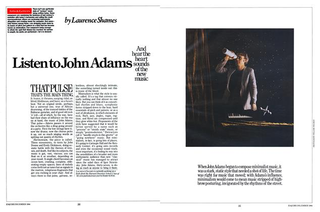 Article Preview: Listen to John Adams, December 1984 | Esquire