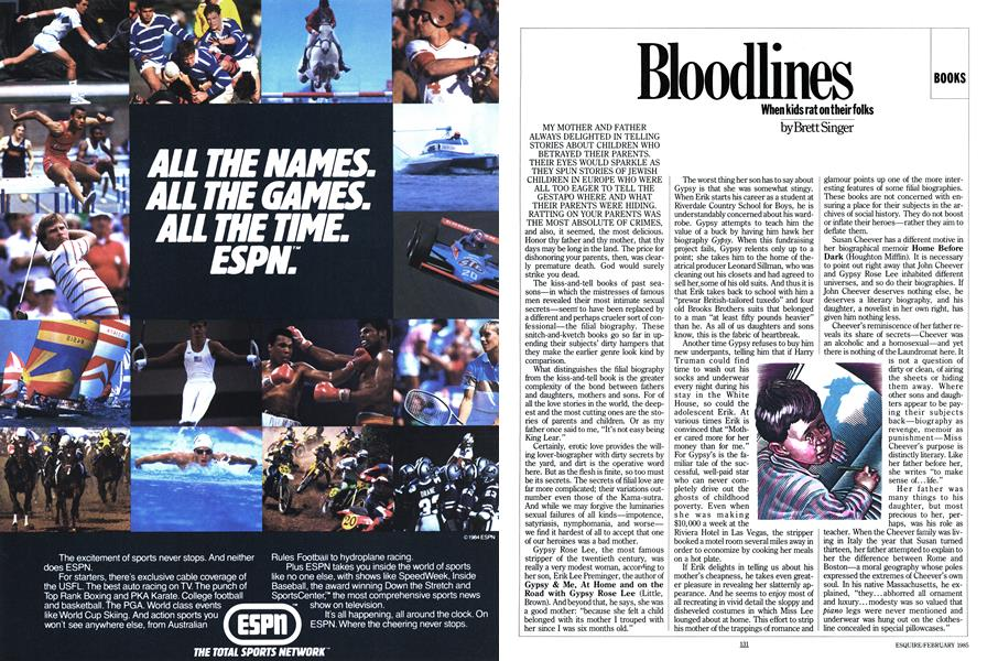 Bloodlines   Esquire   FEBRUARY 1985