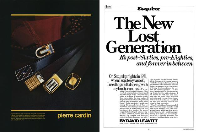 Article Preview: The New Lost Generation, May 1985 | Esquire