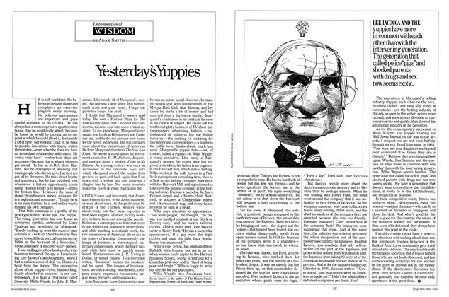 Article Preview: Yesterday's Yuppies, MAY 1985 1985 | Esquire