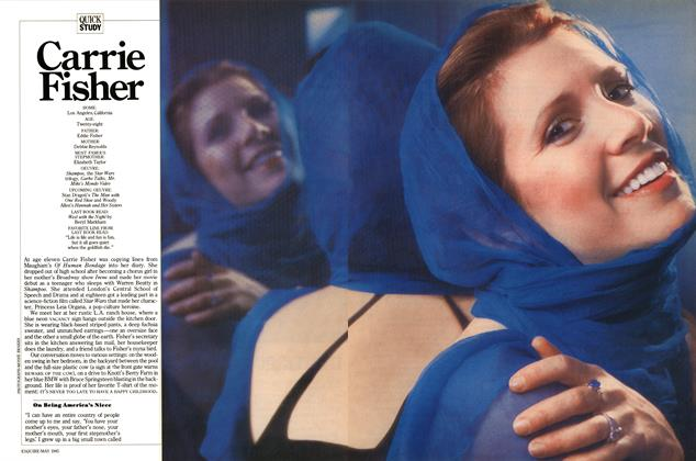 Article Preview: Carrie Fisher, MAY 1985 1985 | Esquire