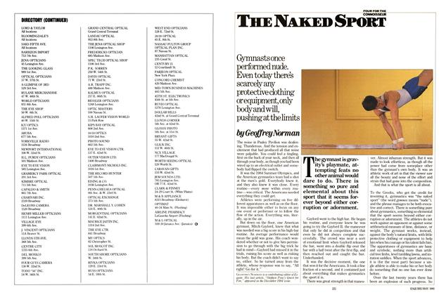 Article Preview: The Naked Sport, May 1985 | Esquire