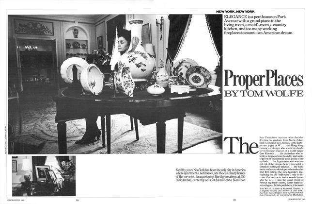 Article Preview: Proper Places, JUNE 1985 1985 | Esquire