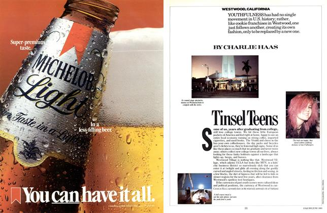 Article Preview: Tinsel Teens, JUNE 1985 1985 | Esquire