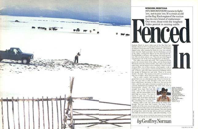 Article Preview: Fenced In, JUNE 1985 1985 | Esquire