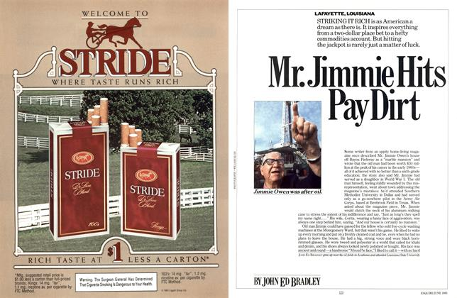 Article Preview: Mr. Jimmie Hits Pay Dirt, June 1985 | Esquire