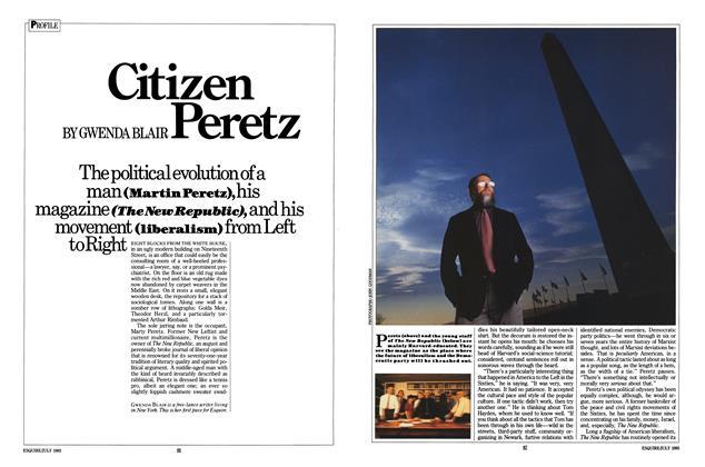 Article Preview: Citizen Peretz, JULY 1985 1985 | Esquire