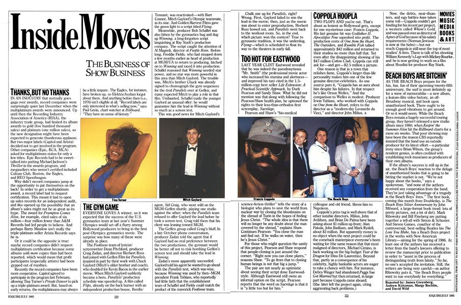 The Business of Show Business | Esquire | JULY 1985