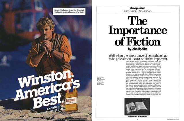 Article Preview: The Importance of Fiction, AUGUST 1985 1985 | Esquire