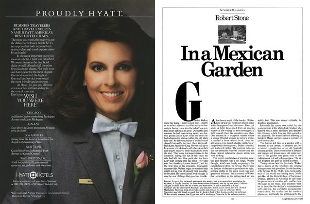 Article Preview: In a Mexican Garden, AUGUST 1985 1985 | Esquire