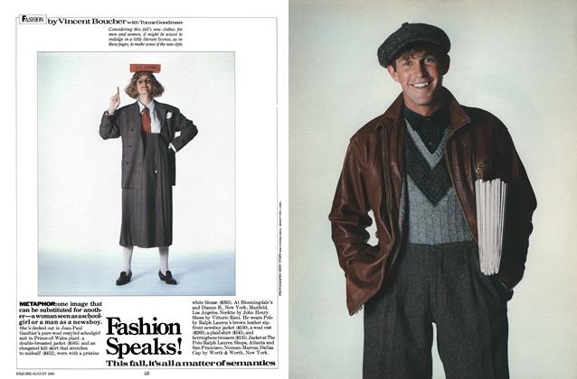 Article Preview: Fashion Speaks!, AUGUST 1985 1985 | Esquire