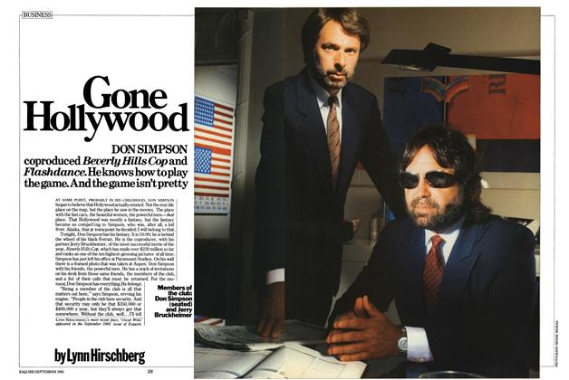 Article Preview: Gone Hollywood, SEPTEMBER 1985 1985 | Esquire