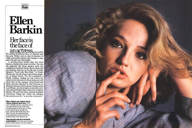 Article Preview: Ellen Barkin, September 1985   Esquire