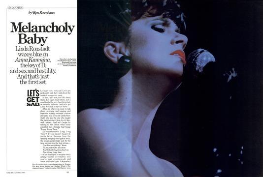 Melancholy Baby - October | Esquire