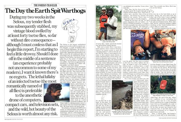 Article Preview: The Day the Earth Spit Warthogs, October 1985 | Esquire