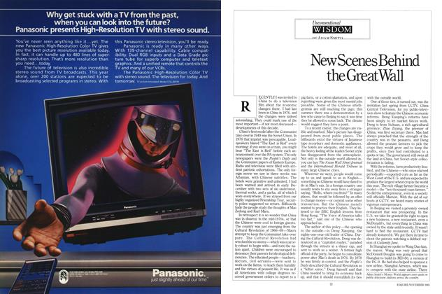 Article Preview: New Scenes Behind the Great Wall, November 1985 | Esquire