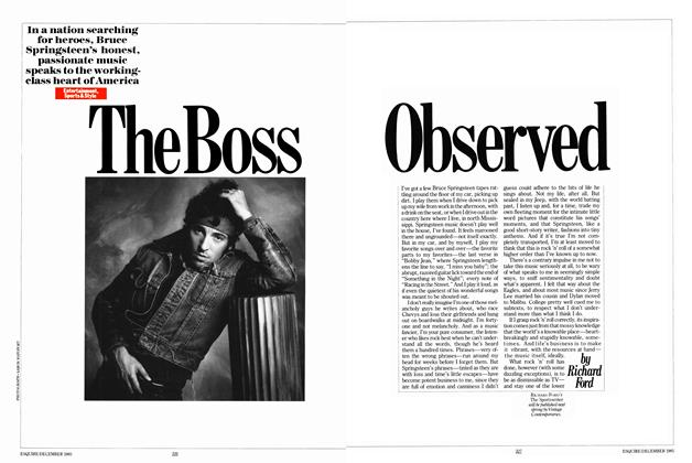 Article Preview: The Boss Observed, DECEMBER 1985 1985 | Esquire