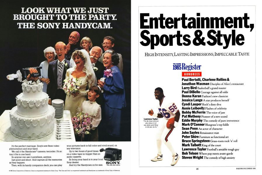Entertainment, Sports & Style | Esquire | DECEMBER 1985