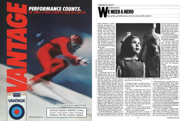 Article Preview: We Need a Hero, January 1986 | Esquire