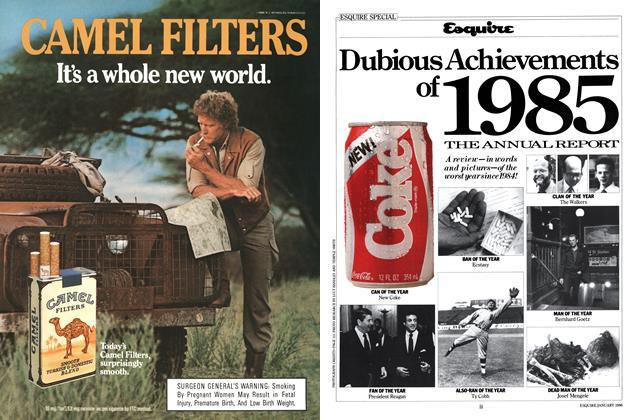 Article Preview: Dubious Achievements of 1985, January 1986 | Esquire