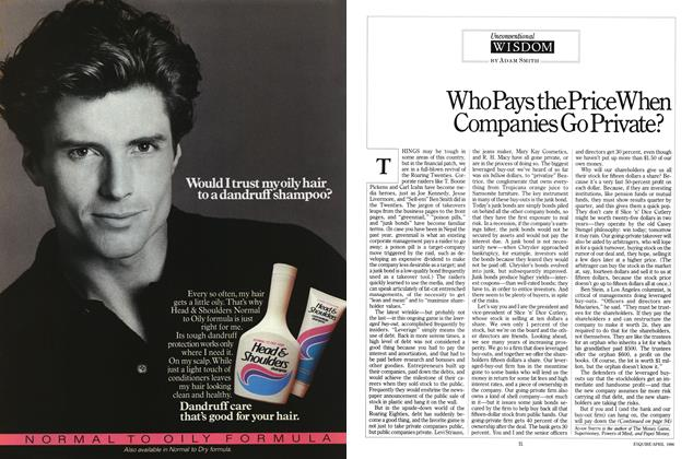 Article Preview: Who Pays the Price When Companies Go Private?, APRIL 1986 1986 | Esquire
