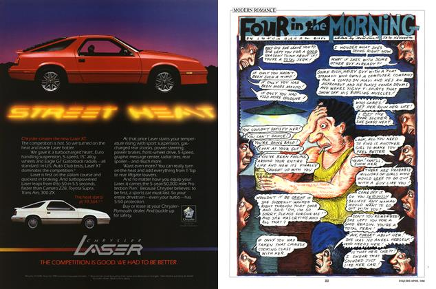 Article Preview: Four in the Morning, APRIL 1986 1986 | Esquire