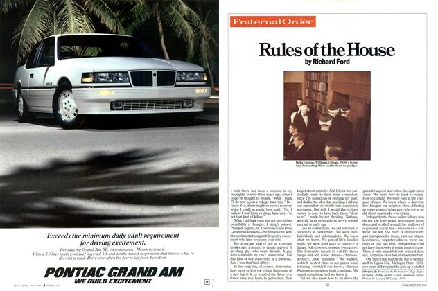 Article Preview: Rules of the House, June 1986 | Esquire