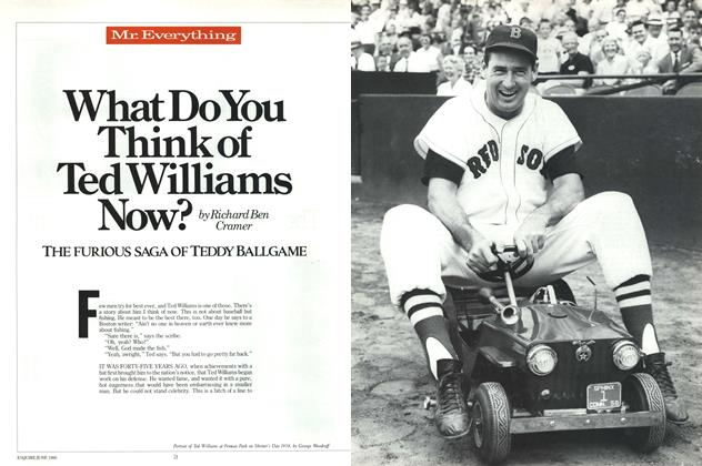 Article Preview: What Do You Think of Ted Williams Now?, June 1986 | Esquire