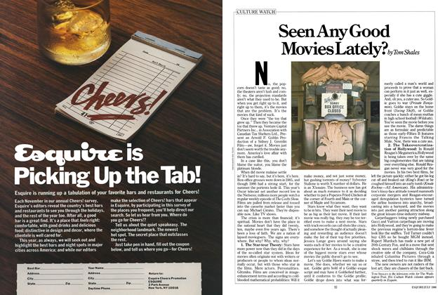 Article Preview: Seen Any Good Movies Lately?, JULY 1986 1986 | Esquire