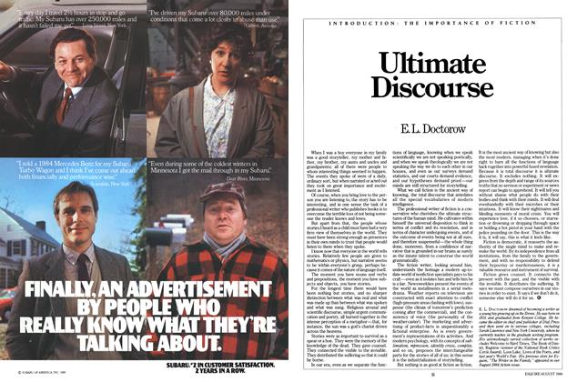 Article Preview: Ultimate Discourse, AUGUST 1986 1986 | Esquire