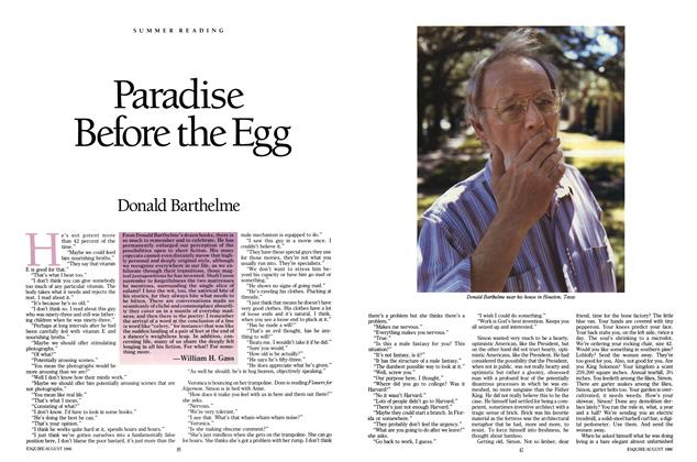 Article Preview: Paradise Before the Egg, August 1986 | Esquire