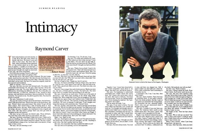 Article Preview: Intimacy, August 1986 | Esquire