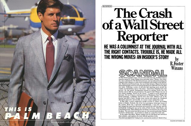 Article Preview: The Crash of a Wall Street Reporter, September 1986 | Esquire