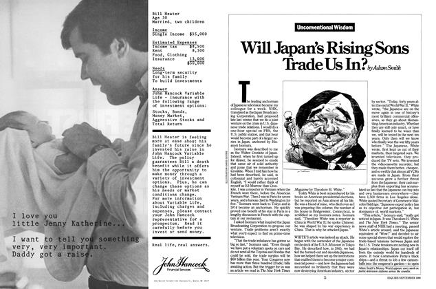 Article Preview: Will Japan's Rising Sons Trade Us In?, SEPTEMBER 1986 1986 | Esquire