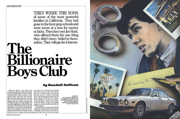 Article Preview: The Billionaire Boys Club, SEPTEMBER 1986 1986 | Esquire