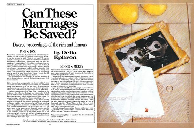 Article Preview: Can These Marriages Be Saved?, October 1986 | Esquire