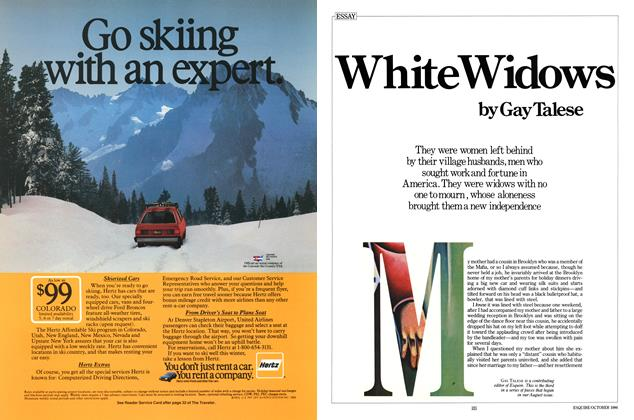 Article Preview: White Widows, OCTOBER 1986 1986 | Esquire