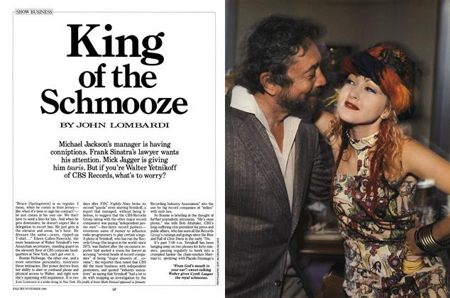Article Preview: King of the Schmooze, November 1986 | Esquire