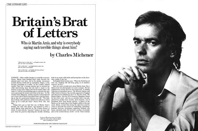 Article Preview: Britain's Brat of Letters, NOVEMBER 1986 1986 | Esquire