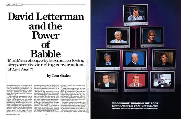 Article Preview: David Letterman and the Power of Babble, November 1986 | Esquire