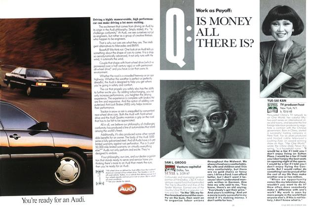Article Preview: IS MONEY ALL, THERE IS?, DECEMBER 1986 1986   Esquire
