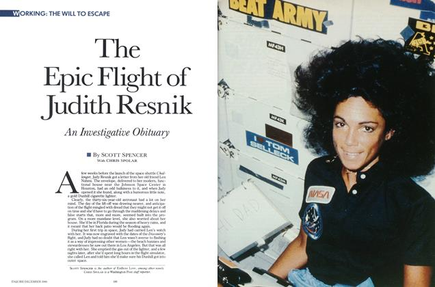 Article Preview: The Epic Flight of Judith Resnik, December 1986 | Esquire