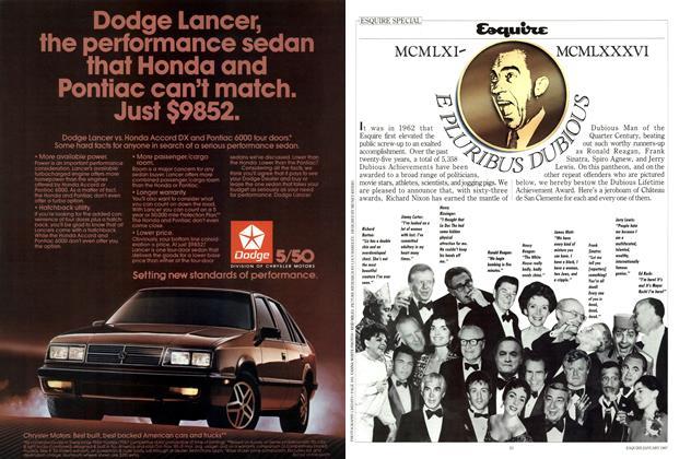 Dubious Achievements of 1986!