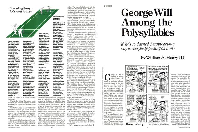 George Will Among the Polysyllables