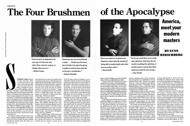 Article Preview: The Four Brushmen of the Apocalypse, MARCH 1987 1987 | Esquire