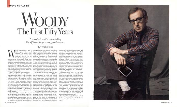 Article Preview: Woody: The First Fifty Years, April 1987 | Esquire