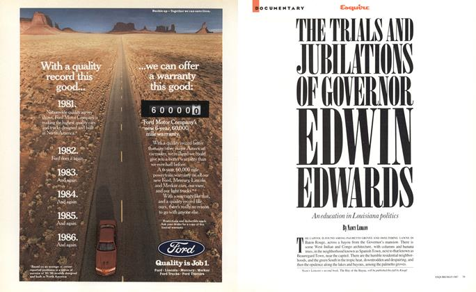 The Trials and Jubilations of Governor Edwin Edwards
